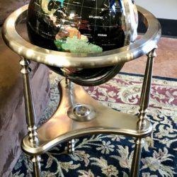 Standing Gemstone Globe on Pewter Base