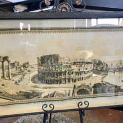 Vintage Framed Tapestry of Roman Colliseum