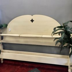 Ethan Allen Antique White King Bed