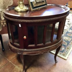 Antique Bar Table with Tray