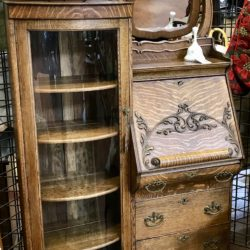 Antique Secretary with Glass Display Cabinet