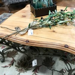 Wood & Iron Square Coffee Table (matching end table available)