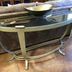 Glass & Iron Sofa Table