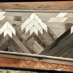 Wood Mount Wall Decor Made From Reclaimed Fences (various sizes and styles available)