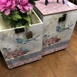 Fabric Covered Chests 2 Available