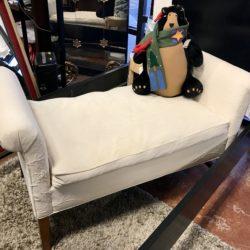 Lexington Cream Bench w/ Down Cushion