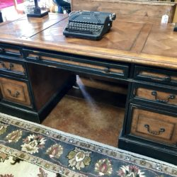 Rustic Wood Desk with Black 5' 5