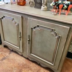 Green Distressed Cabinet