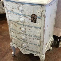 Vintage White Painted 5 Drawer Chest