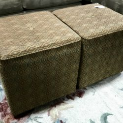 Olive Ottoman / Stool - 1 available