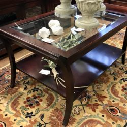 Espresso Wood & Glass Coffee Table