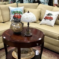 Stickley Gold Curved Back Sectional