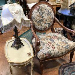 La-Z-Boy Queen Anne Floral Accent Chair