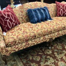Vintage Camelback Sofa - Newly Upholstered