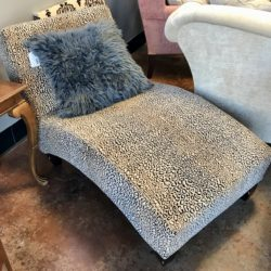 Leopard Print Chaise Lounge