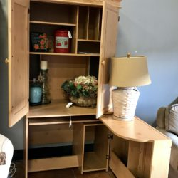 Pine Hide a Desk Armoire