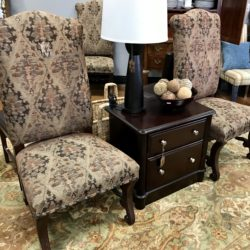 Set of 6 Tapestry Dining Chairs