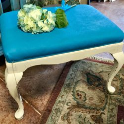 Turquoise Shabby Chic Bench