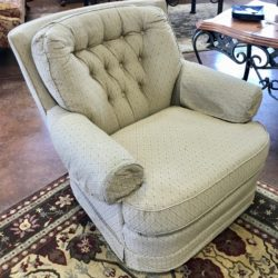 Tan Swivel Chair