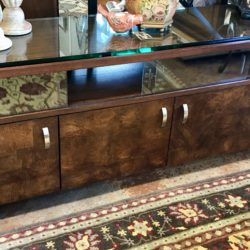 Bassett Media Console with Thick Glass Top