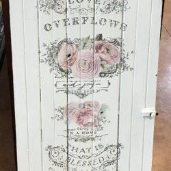 Old Shabby Chic Cabinet Door