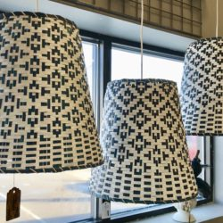 Wicker Basket Hanging Lamps