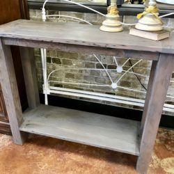 Reclaimed Wood Gray Console Table