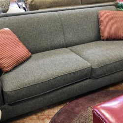 Black & Tan Herringbone Contemporary Sofa
