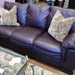 Plum Leather Sofa
