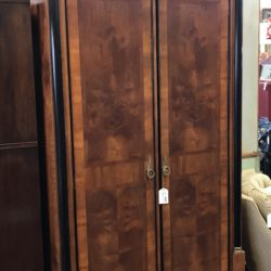 Ennis Art Deco Armoire with Adjustable Shelves