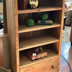 Rustic Bookcase w/ Drawer