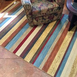 Wool Striped Rug - 5 x 8