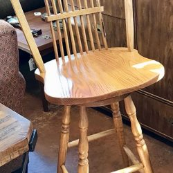 Oak Swivel Bar Stool