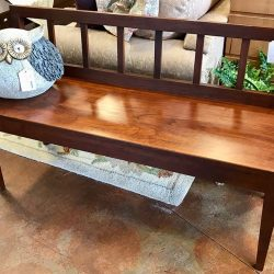 Gat Creek Hand Made Solid Cherry Bench $295