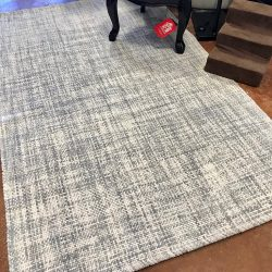West Elm Heathered Gray Basketweave Area Rug 5 x 8