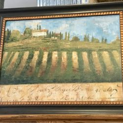 Tuscan Vineyard Framed Art 49 x 59