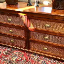 Pier 1 Angled Dresser with Woven Fronts