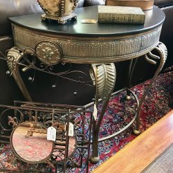 ½ Moon Metal Entry Table