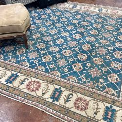Hand Knotted Wool Area Rug - 10 x 12