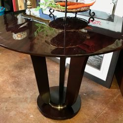 Dark Brown Contemporary Side Table