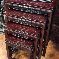 Set of 4 Mahogany Nesting Tables