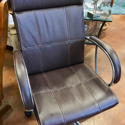 Gray Faux Leather Office Chair