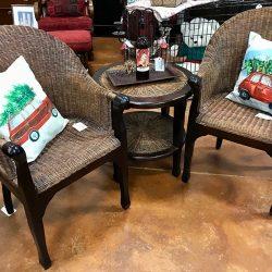 Rattan Chair & Table Set