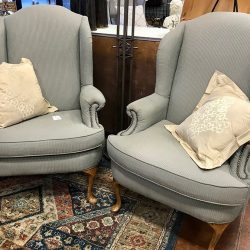 Green Wingback Chairs
