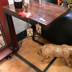 Pier 1 Tobacco C-Shape Table - 2 Available