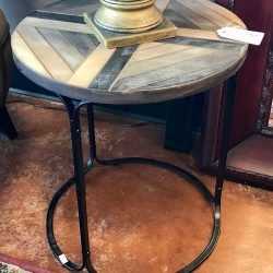 Round Farmhouse Side Table